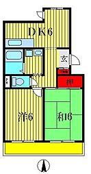 ボヌールメゾンオジマ[3階]の間取り