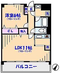 SATOMI-2番館[5階]の間取り