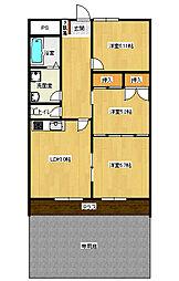 マンション桜[1階]の間取り