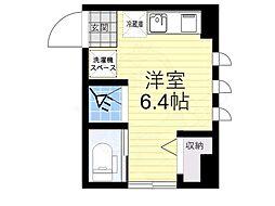 JR中央線 三鷹駅 徒歩4分の賃貸マンション 1階1Kの間取り