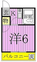 東京都足立区扇3丁目の賃貸アパートの間取り