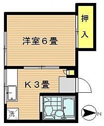 高田荘[201号室号室]の間取り