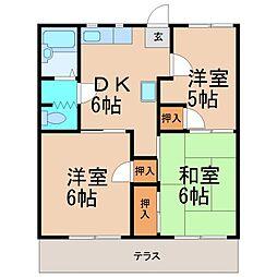 フォーブル太平台A[1階]の間取り
