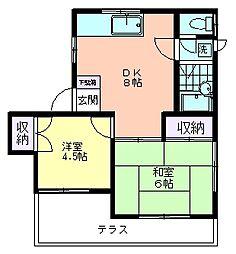 キャピタルハウス[102号室]の間取り