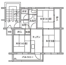 UR豊四季台[79-407号室]の間取り