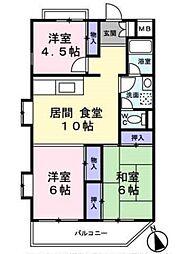 アビタシオン富士[2階]の間取り