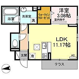 仮)D-room下中村町[101号室]の間取り