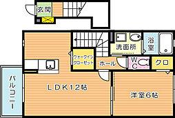アベニール2番館[2階]の間取り