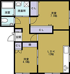 福井マンション[4階]の間取り