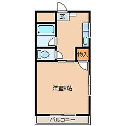 シティハイツ古賀[502号室]の間取り