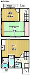 [テラスハウス] 千葉県船橋市海神5丁目 の賃貸【千葉県 / 船橋市】の間取り