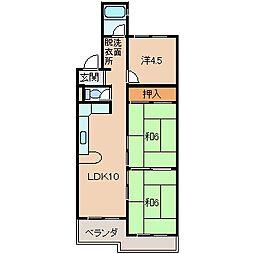ハイツ松ヶ丘[2階]の間取り
