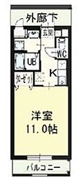 徳島県徳島市万代町6丁目の賃貸マンションの間取り