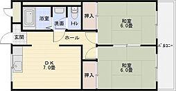 谷口マンション[3階]の間取り