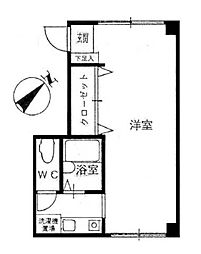 HBビル野毛第2[2階]の間取り