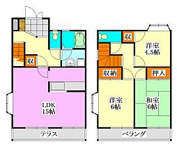 [テラスハウス] 千葉県船橋市田喜野井4丁目 の賃貸【/】の間取り