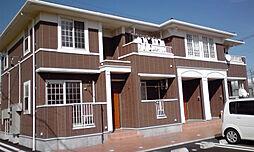 山梨県南アルプス市荊沢の賃貸アパートの外観