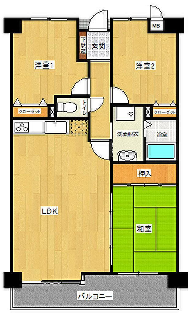 間取り(令和元年12月内装大規模工事完了予定。水回り新品です。)