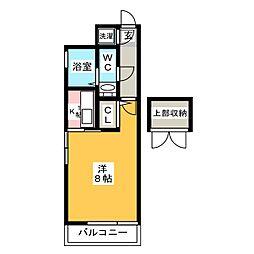 エステートモア博多公園通り[4階]の間取り