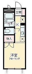 東京都狛江市東和泉1丁目の賃貸アパートの間取り