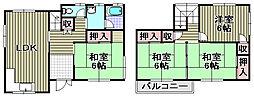 [テラスハウス] 大阪府泉佐野市葵町4丁目 の賃貸【/】の間取り