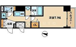 レジュールアッシュ大阪城EAST[8階]の間取り