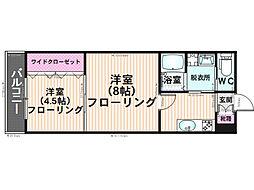 K&Y寺塚[203号室]の間取り
