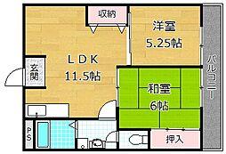 レジデンス松栄I[7階]の間取り