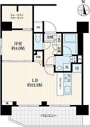 東京メトロ日比谷線 仲御徒町駅 徒歩4分の賃貸マンション 10階1LDKの間取り