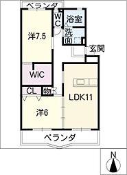 シャトーピア小崎[2階]の間取り