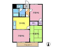 第2グレースマンション[3階]の間取り