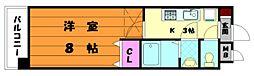 福岡県福岡市東区下原1の賃貸マンションの間取り