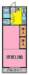 正栄荘[105号室]の間取り