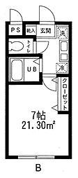 埼玉県さいたま市中央区下落合2丁目の賃貸マンションの間取り