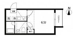 東京メトロ丸ノ内線 中野新橋駅 徒歩6分の賃貸アパート 3階1Kの間取り