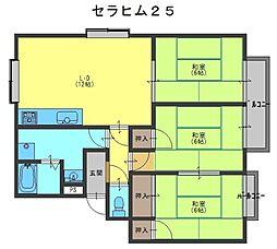 セラヒム25[1階]の間取り