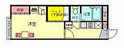 レオパレスシャンドゥフルール[1階]の間取り