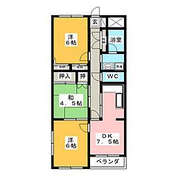 I'sマンション[4階]の間取り