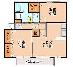 プロスパー62[2階]の間取り