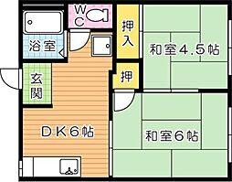 アパートメントいしだ[2階]の間取り