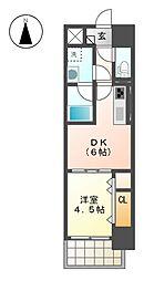 愛知県名古屋市北区浪打町1丁目の賃貸マンションの間取り