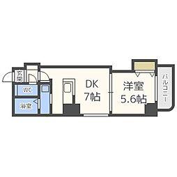 E-Horizon円山(イーホライズン円山)[601号室]の間取り