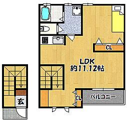 メゾンクールタカモト[1階]の間取り