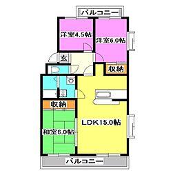 エスポワールTYマンション[3階]の間取り