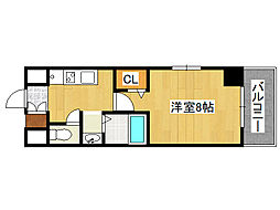 シャトー桜川[3階]の間取り