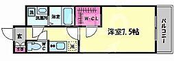 エスプレイスOSAKAベイシティ 6階1Kの間取り