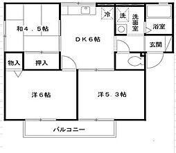 プレミールI[2階]の間取り
