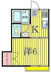 ビルトモアA[102号室]の間取り