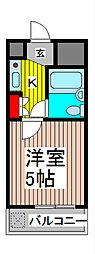 ブランノーヴァ蕨Ⅱ[2階]の間取り