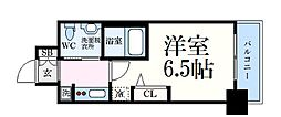 JR東海道・山陽本線 三ノ宮駅 徒歩7分の賃貸マンション 5階1Kの間取り